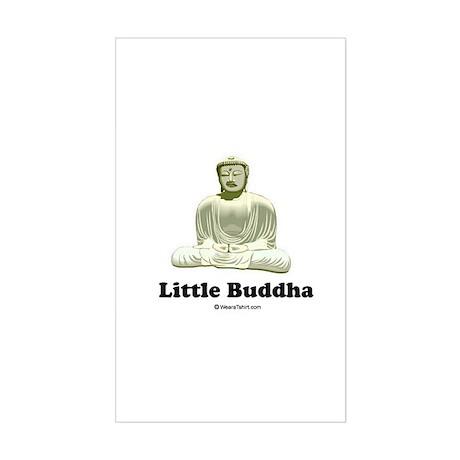 Little Buddha / Baby Humor Rectangle Sticker