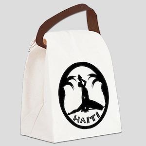 N Marron white Canvas Lunch Bag