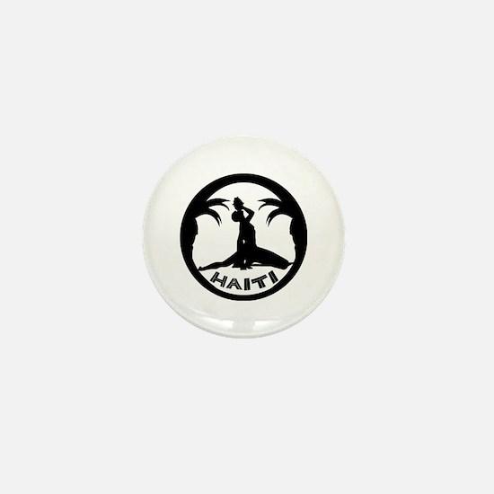 N Marron white Mini Button