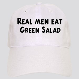 Men eat Green Salad Cap