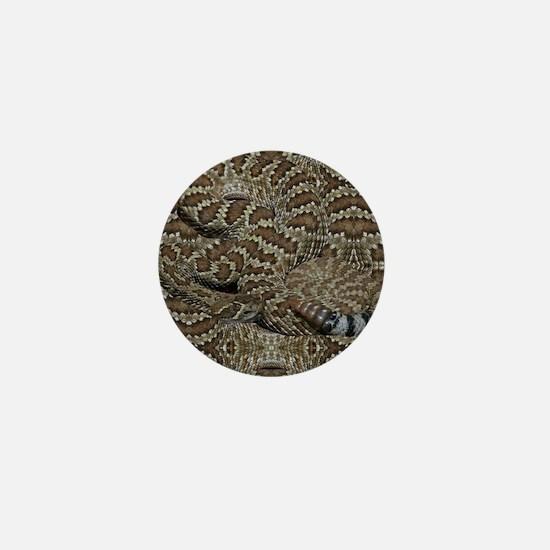 Sneaky Rattlesnake Mini Button