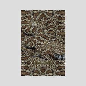 Sneaky Rattlesnake Rectangle Magnet