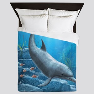 The World Of The Dolphin Queen Duvet