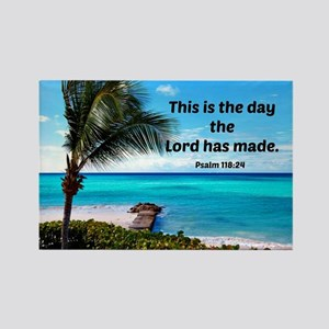 Psalm 118:24, This is the day the Rectangle Magnet