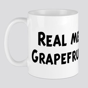 Men eat Grapefruit Juice Mug