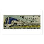 Reading Crusader Streamliner Sticker (Rectangular
