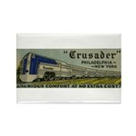 Reading Crusader Streamliner Rectangle Magnet (10