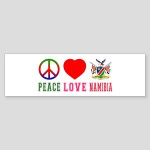 Peace Love Namibia Sticker (Bumper)