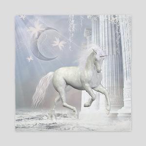 White Unicorn 2 Queen Duvet