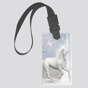 White Unicorn 2 Large Luggage Tag