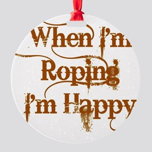 Roping Round Ornament