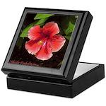 Red/Orange Hibiscus #2 Art Keepsake Box