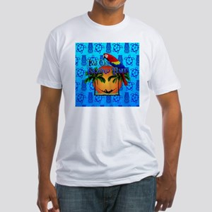 Island Time Tiki Fitted T-Shirt