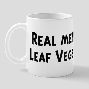 Men eat Leaf Vegetable Mug