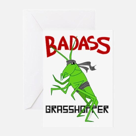le badass grasshopper Greeting Card