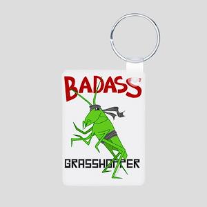le badass grasshopper Aluminum Photo Keychain