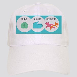 rock paper scissor pillow case Cap