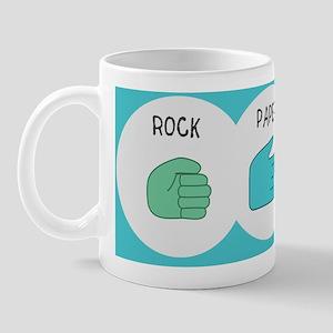 rock paper scissor pillow case Mug