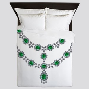 two-strand-emerald-faceted-necklace-8- Queen Duvet