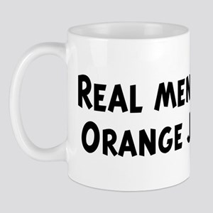 Men eat Orange Juice Mug