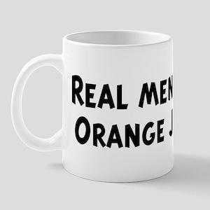 Men eat Orange Juice Mug