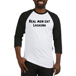 Men eat Lasagna Baseball Jersey