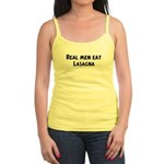Men eat Lasagna Jr. Spaghetti Tank