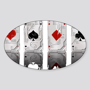 Aces Loaded Sticker (Oval)