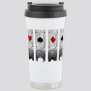 Aces Loaded Stainless Steel Travel Mug
