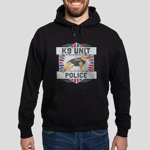 Custom German Shepherd K9 Unit Police Hoodie (dark
