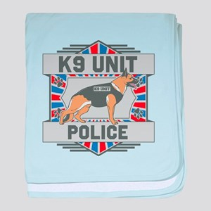 Custom German Shepherd K9 Unit Police baby blanket