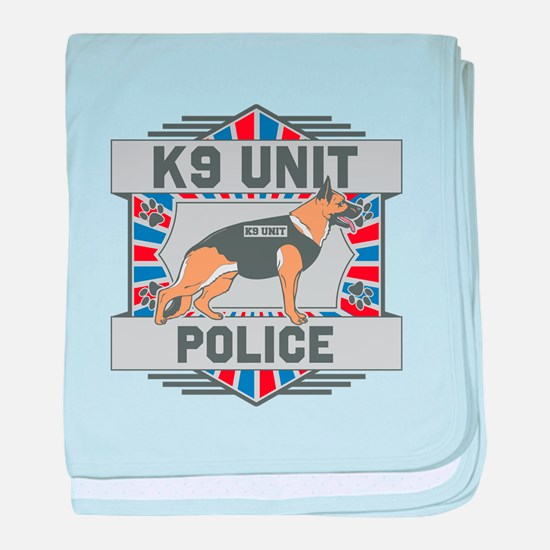 Custom German Shepherd K9 Unit Police baby blanket