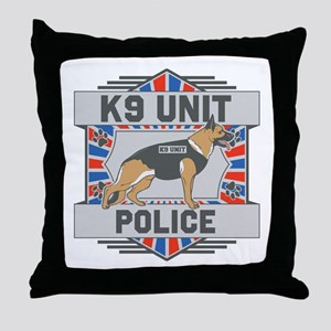 Custom German Shepherd K9 Unit Police Throw Pillow