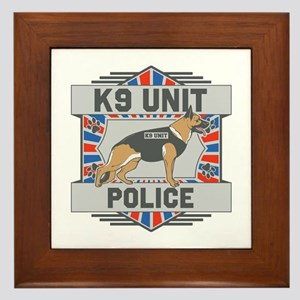 Custom German Shepherd K9 Unit Police Framed Tile