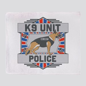 Custom German Shepherd K9 Unit Police Throw Blanke