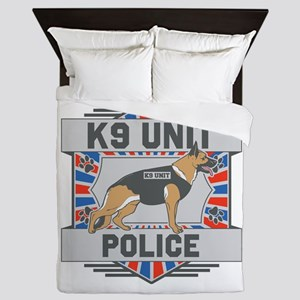 Custom German Shepherd K9 Unit Police Queen Duvet