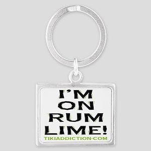 im on rum lime - white Landscape Keychain