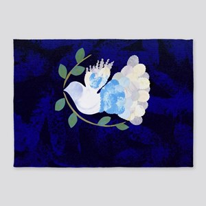 Peace Spirit Dove 5'x7'Area Rug
