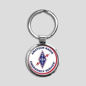 ARES Round Keychain