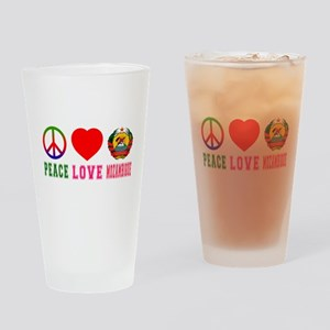 Peace Love Mozambique Drinking Glass