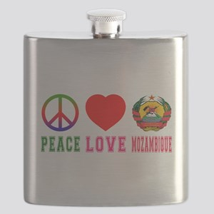 Peace Love Mozambique Flask