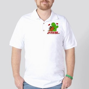 love is prickly Golf Shirt