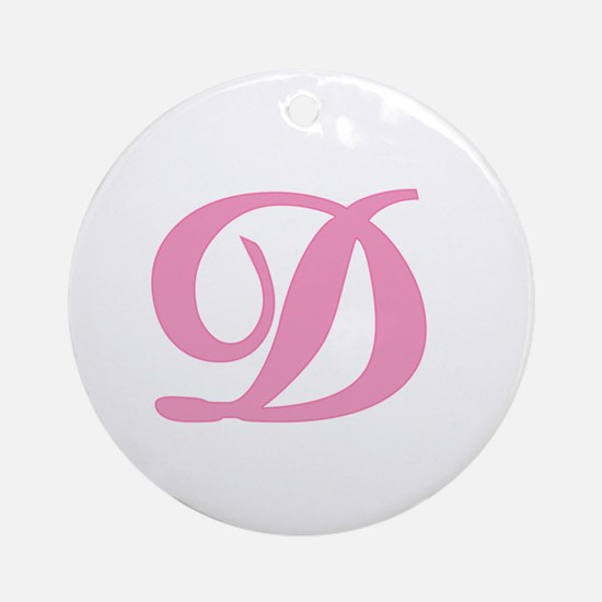 D Initial Ornament (Round)