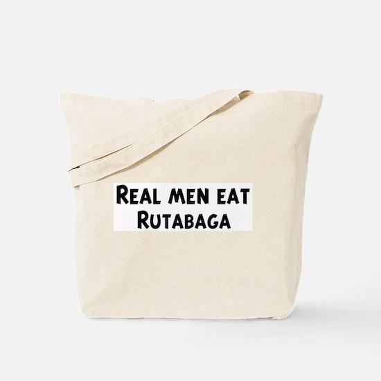 Men eat Rutabaga Tote Bag