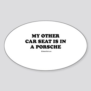 My other car seat / Baby Humor Oval Sticker