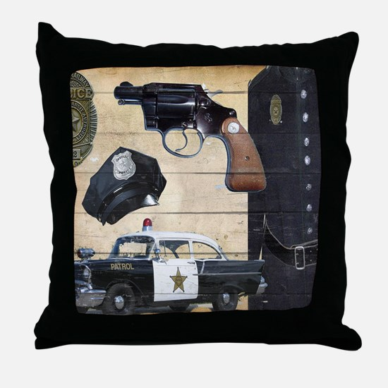 Police Throw Pillow