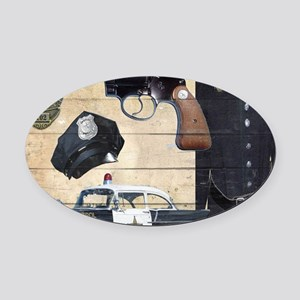 Police Oval Car Magnet