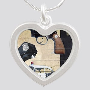 Police Silver Heart Necklace