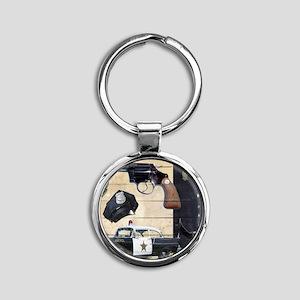 Police Round Keychain