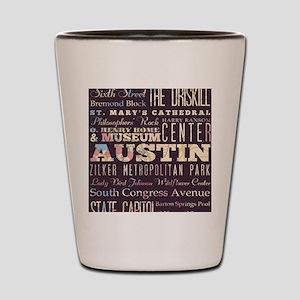 Austin Texas Shot Glass